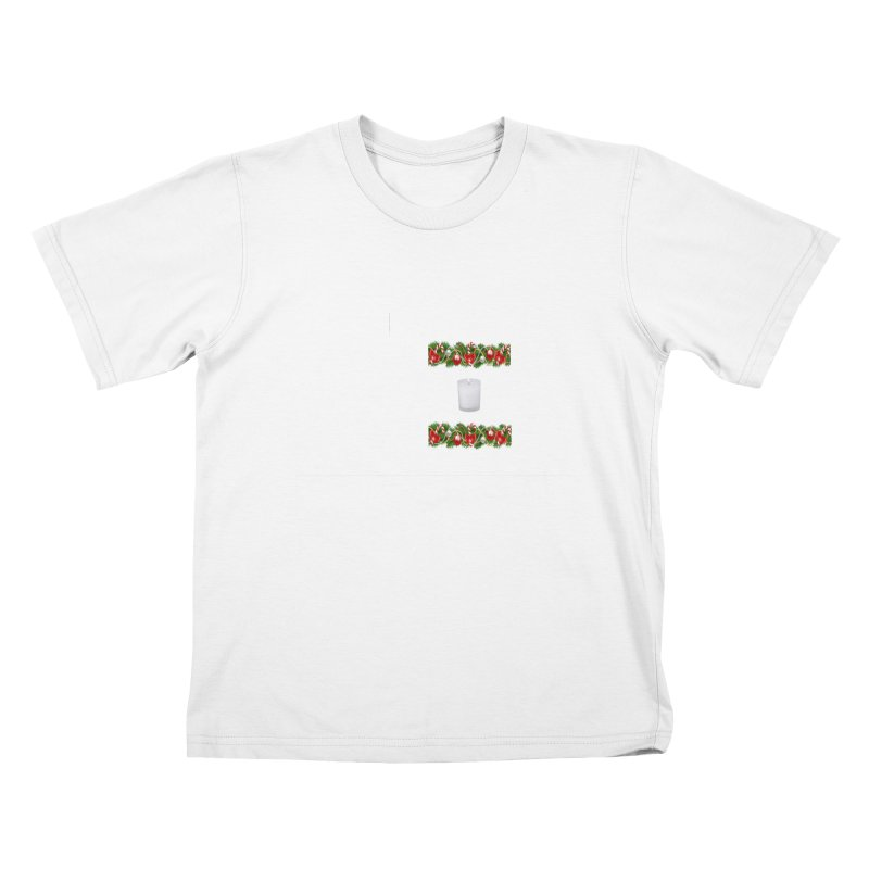 whitecandlegarland Kids T-Shirt by The Ways of The Old's Artist Shop