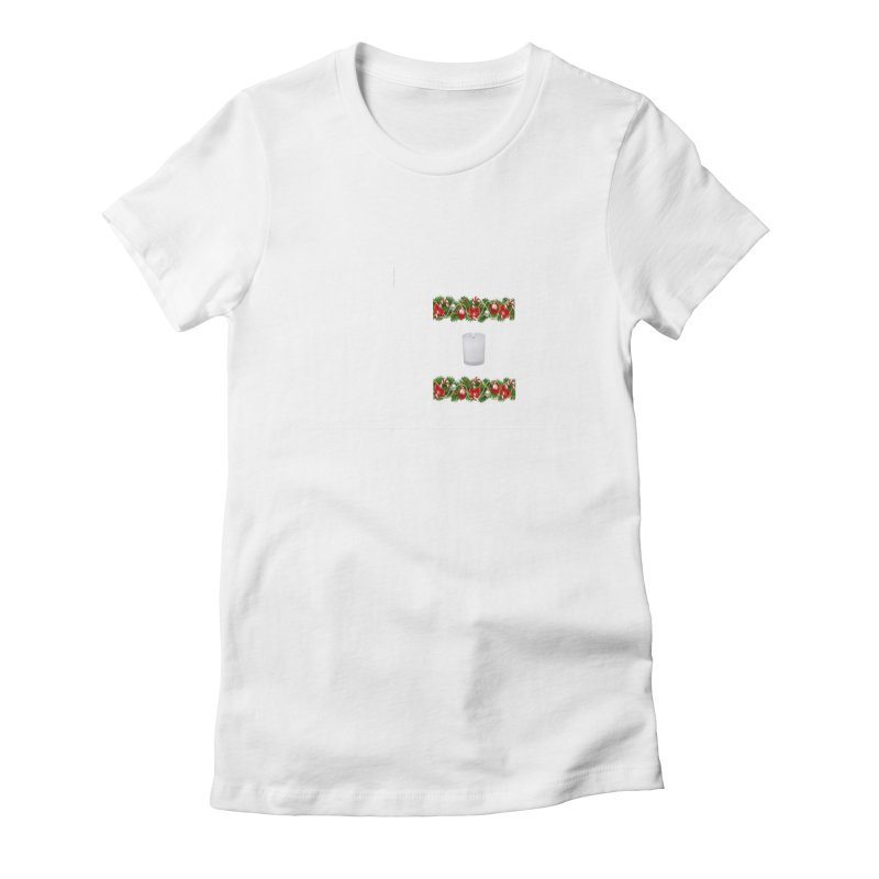 whitecandlegarland Women's Fitted T-Shirt by The Ways of The Old's Artist Shop