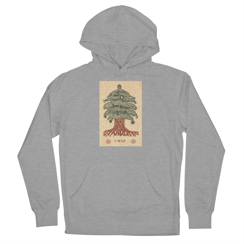 Yule Tree Women's French Terry Pullover Hoody by The Ways of The Old's Artist Shop