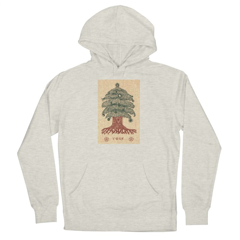 Yule Tree Men's French Terry Pullover Hoody by The Ways of The Old's Artist Shop