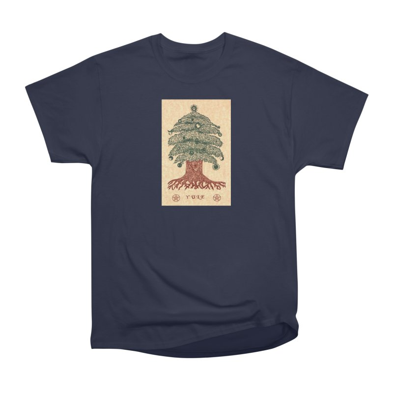 Yule Tree Men's Heavyweight T-Shirt by The Ways of The Old's Artist Shop