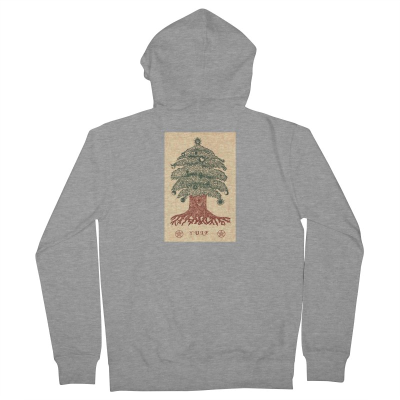 Yule Tree Women's French Terry Zip-Up Hoody by The Ways of The Old's Artist Shop
