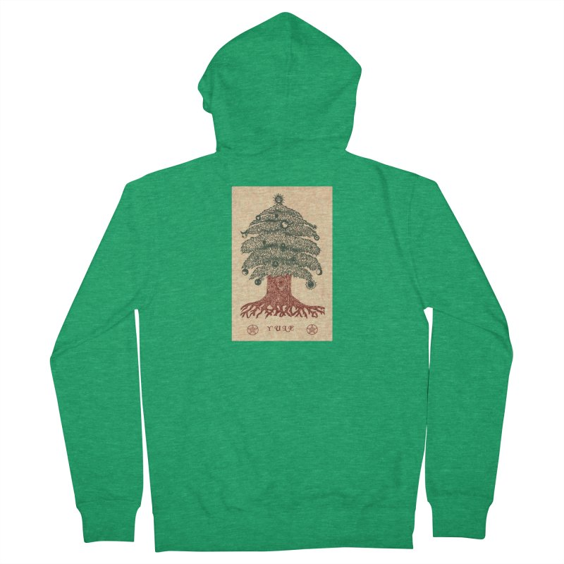 Yule Tree Men's French Terry Zip-Up Hoody by The Ways of The Old's Artist Shop