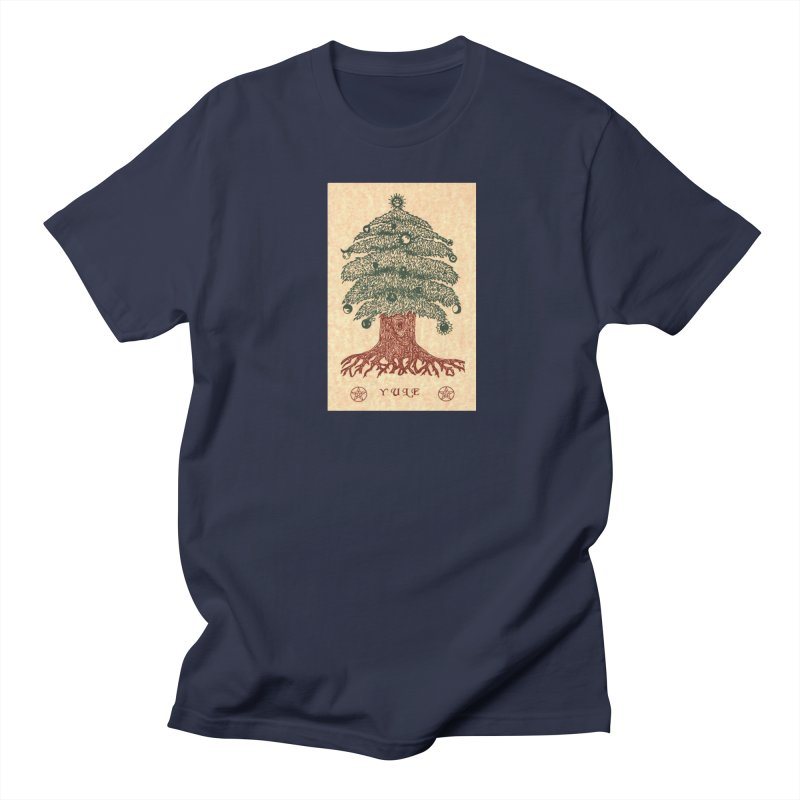 Yule Tree Men's Regular T-Shirt by The Ways of The Old's Artist Shop