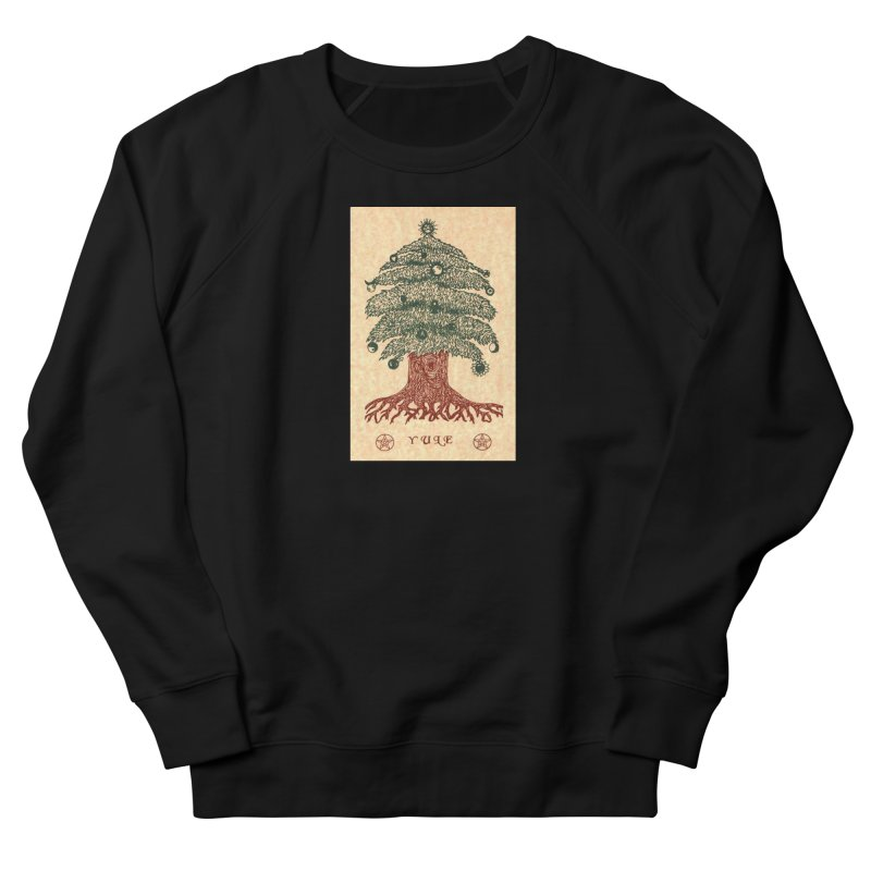 Yule Tree Women's French Terry Sweatshirt by The Ways of The Old's Artist Shop
