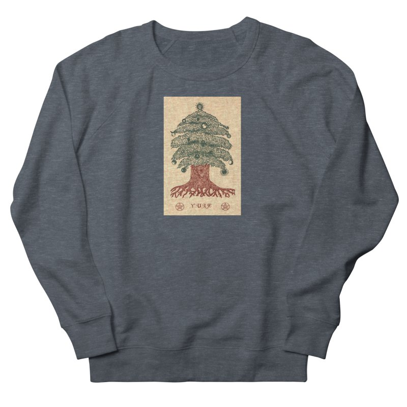 Yule Tree Men's French Terry Sweatshirt by The Ways of The Old's Artist Shop