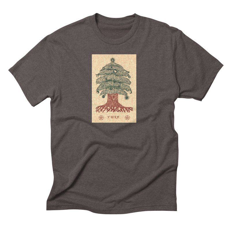 Yule Tree Men's Triblend T-Shirt by The Ways of The Old's Artist Shop