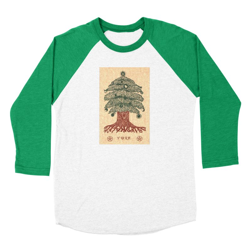 Yule Tree Women's Baseball Triblend Longsleeve T-Shirt by The Ways of The Old's Artist Shop