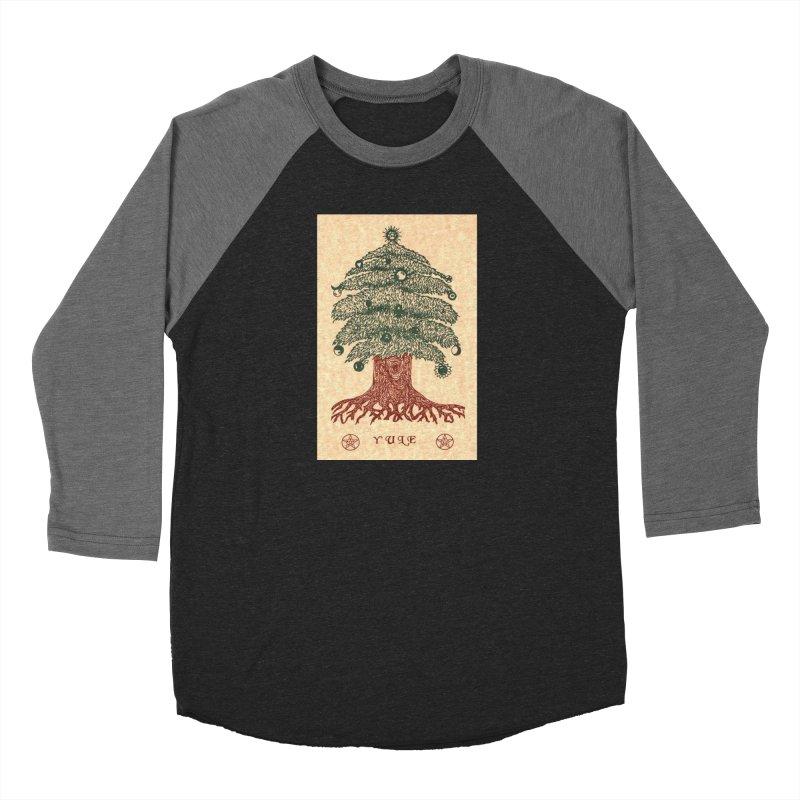 Yule Tree Women's Baseball Triblend Longsleeve T-Shirt by The Ways of The Old's Artist Shop