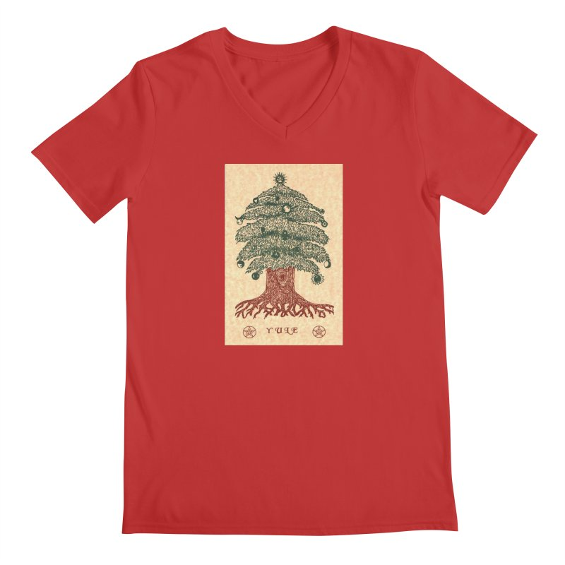 Yule Tree Men's Regular V-Neck by The Ways of The Old's Artist Shop