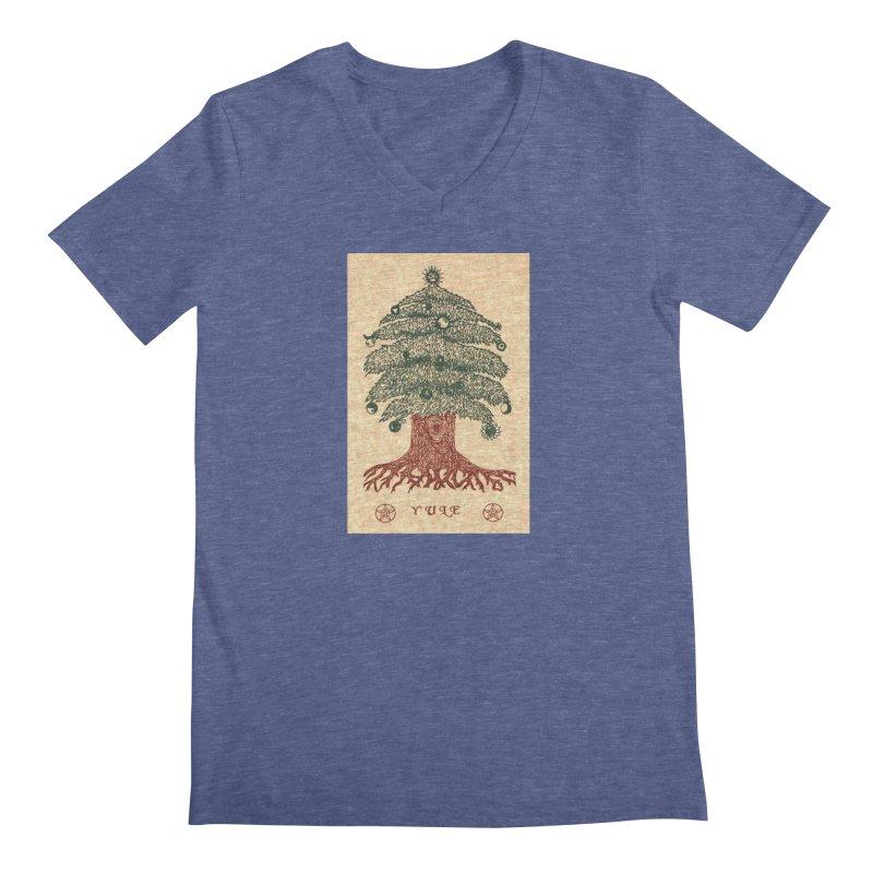 Yule Tree Men's Regular V-Neck by The Ways of The Old's Artist Shop