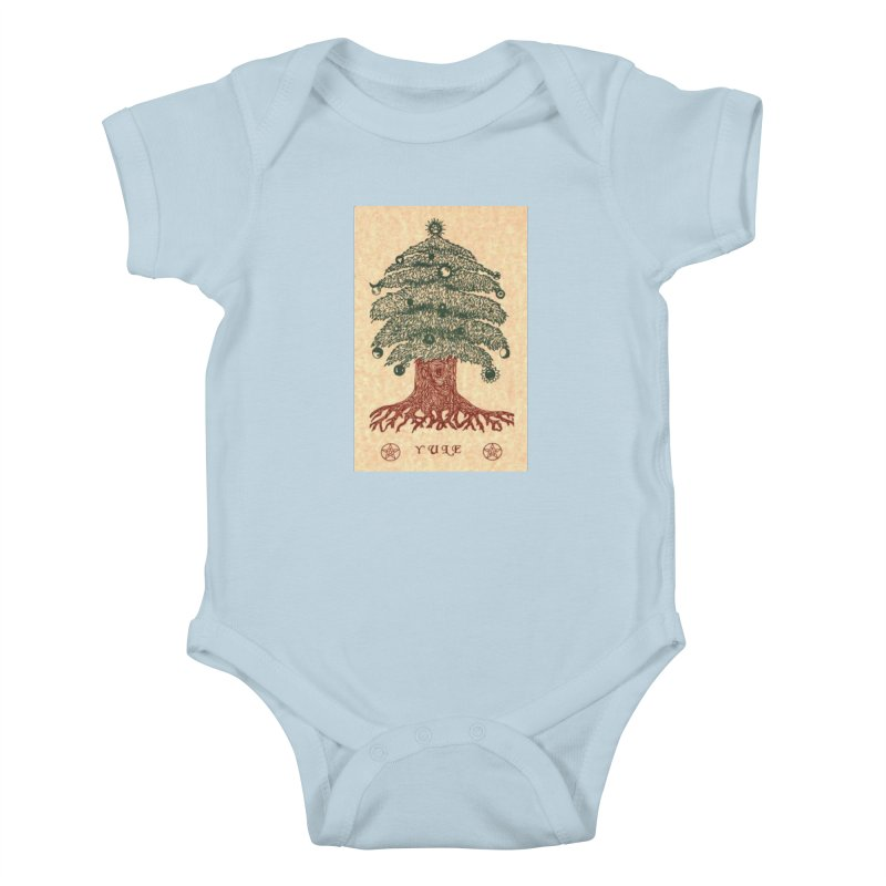 Yule Tree Kids Baby Bodysuit by The Ways of The Old's Artist Shop