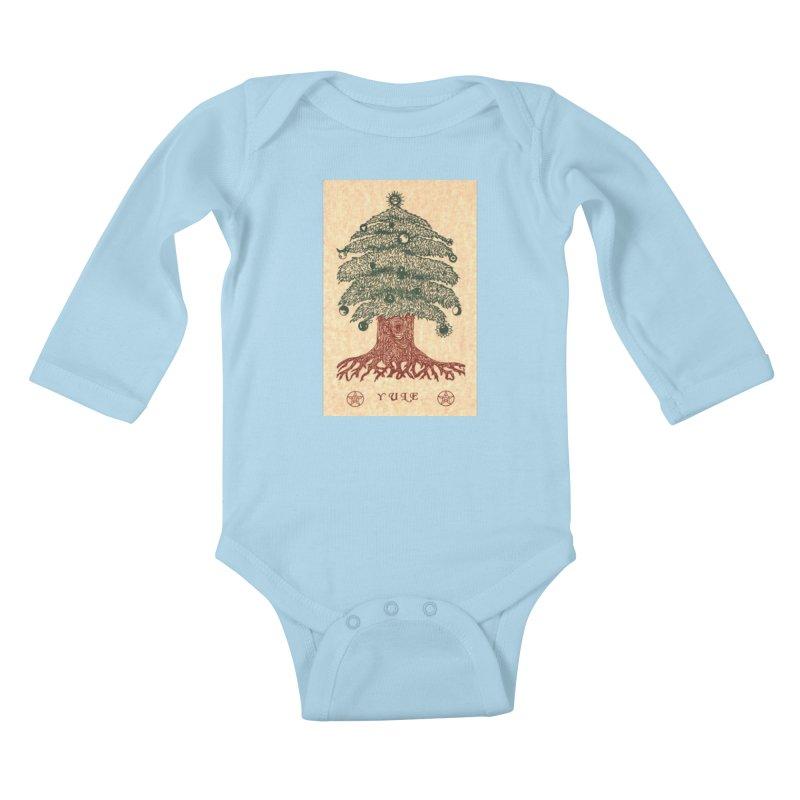 Yule Tree Kids Baby Longsleeve Bodysuit by The Ways of The Old's Artist Shop