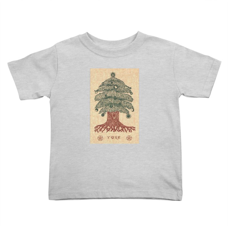 Yule Tree Kids Toddler T-Shirt by The Ways of The Old's Artist Shop