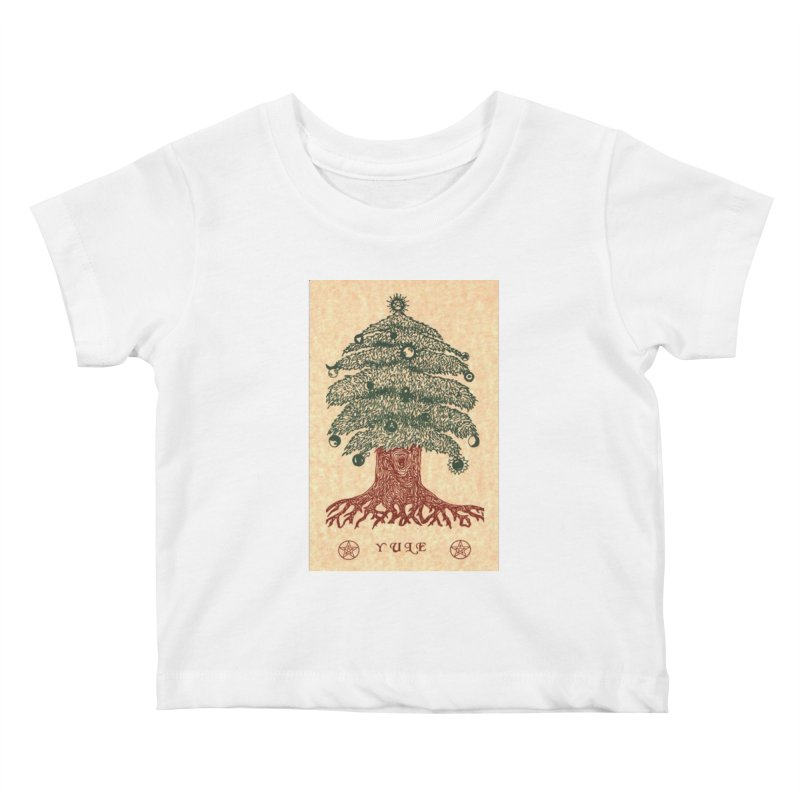 Yule Tree Kids Baby T-Shirt by The Ways of The Old's Artist Shop