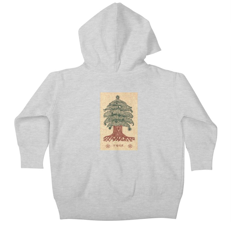 Yule Tree Kids Baby Zip-Up Hoody by The Ways of The Old's Artist Shop