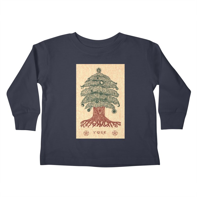 Yule Tree Kids Toddler Longsleeve T-Shirt by The Ways of The Old's Artist Shop