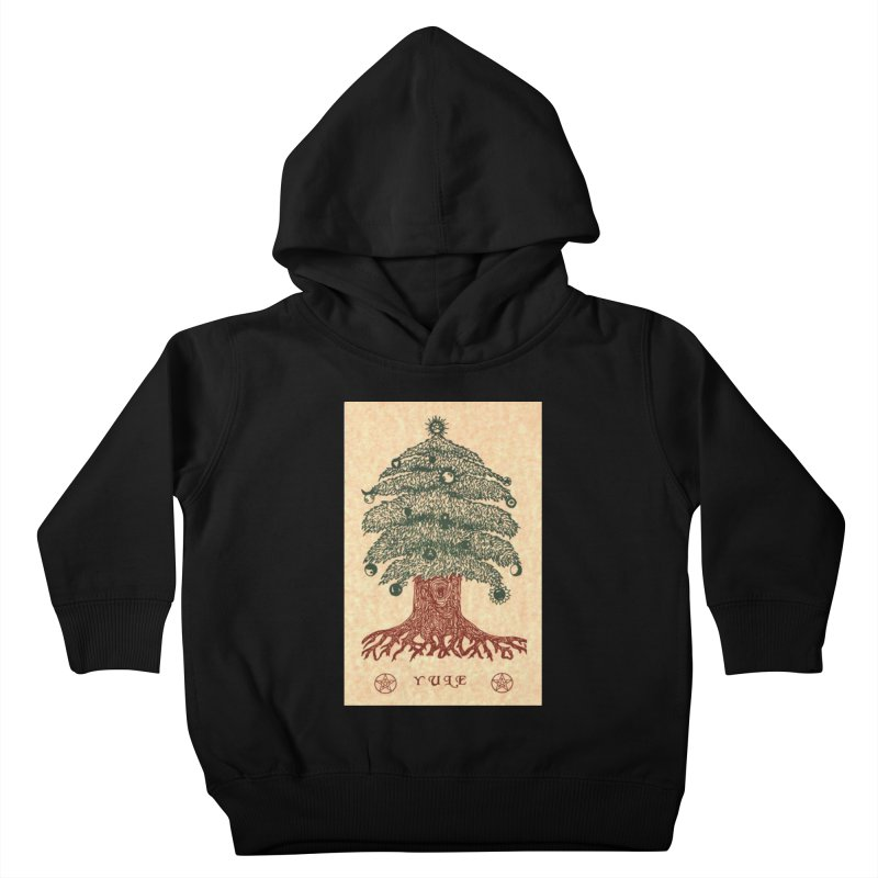 Yule Tree Kids Toddler Pullover Hoody by The Ways of The Old's Artist Shop