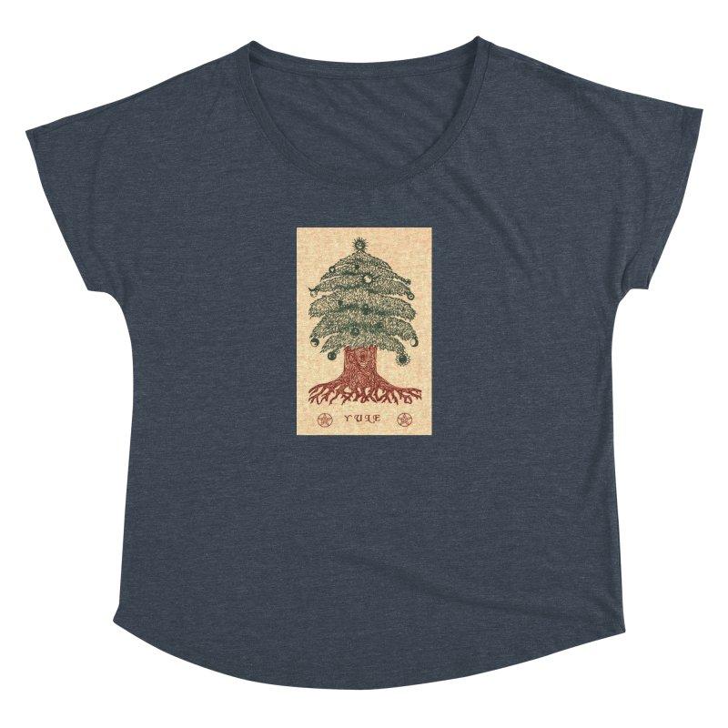 Yule Tree Women's Dolman Scoop Neck by The Ways of The Old's Artist Shop