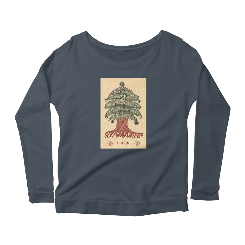 Yule Tree Women's Scoop Neck Longsleeve T-Shirt by The Ways of The Old's Artist Shop