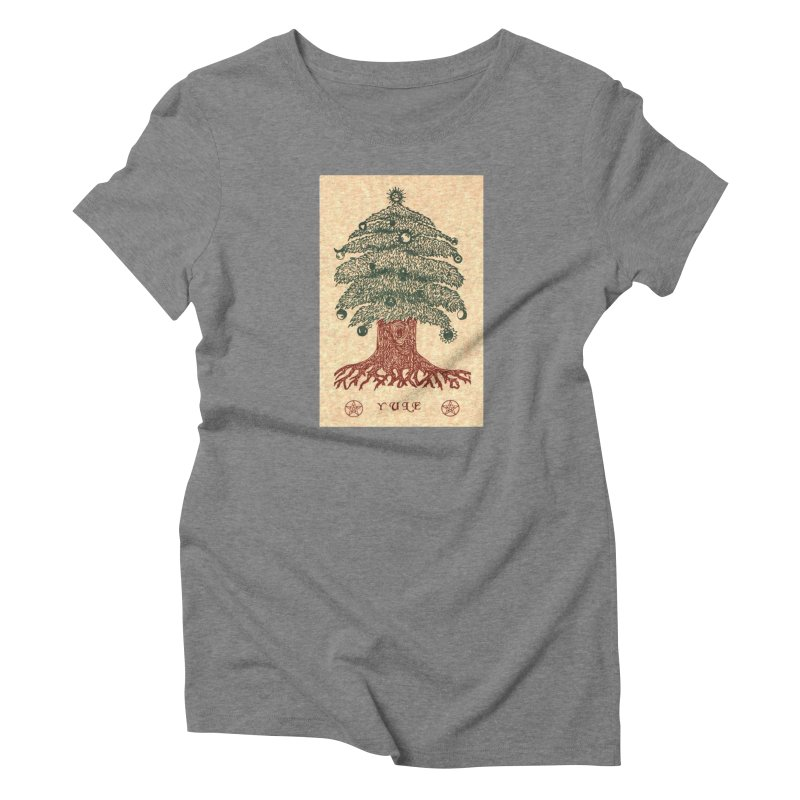 Yule Tree Women's Triblend T-Shirt by The Ways of The Old's Artist Shop