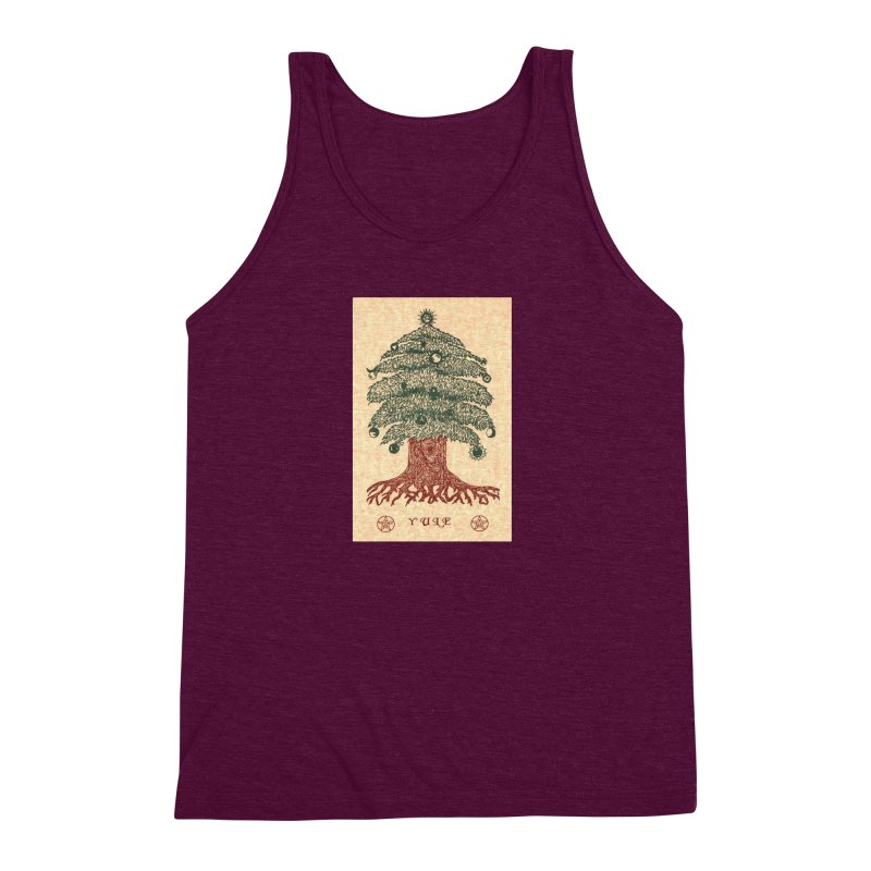 Yule Tree Men's Triblend Tank by The Ways of The Old's Artist Shop