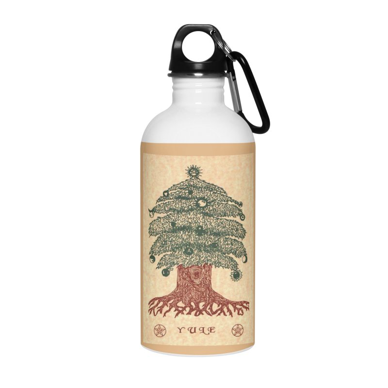 Yule Tree Accessories Water Bottle by The Ways of The Old's Artist Shop