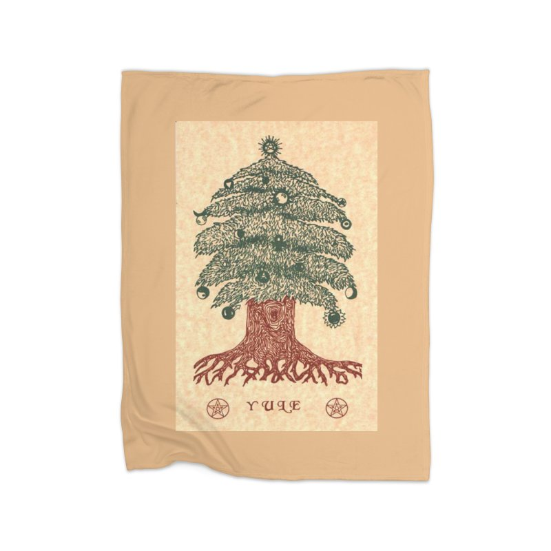 Yule Tree Home Fleece Blanket Blanket by The Ways of The Old's Artist Shop