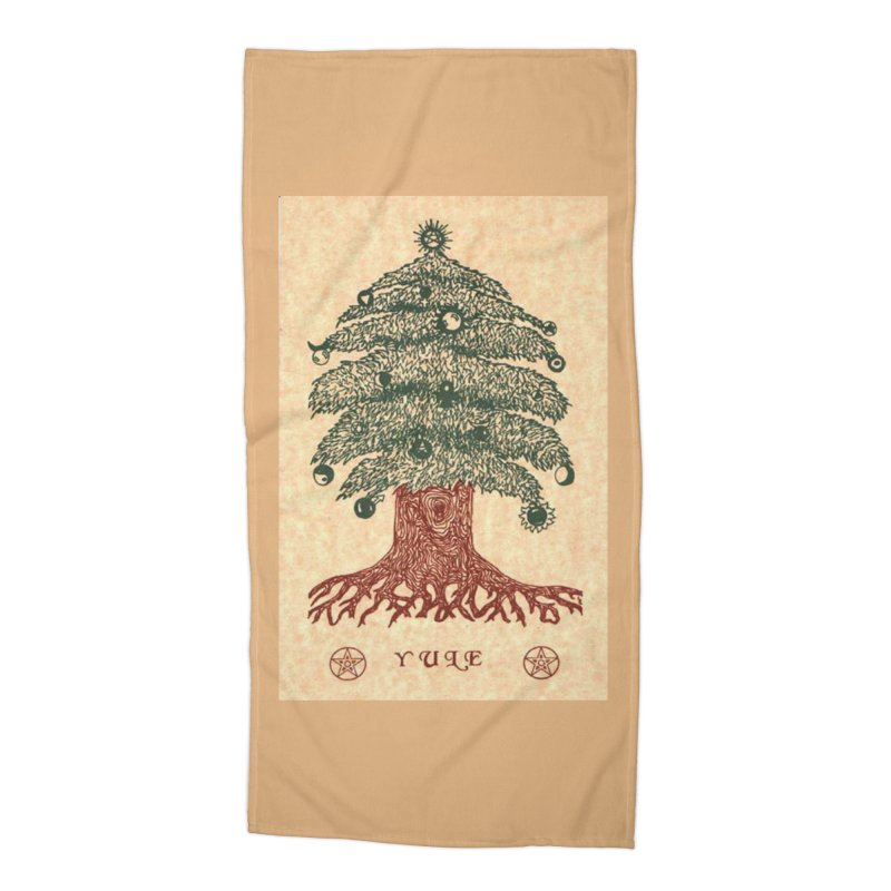 Yule Tree Accessories Beach Towel by The Ways of The Old's Artist Shop