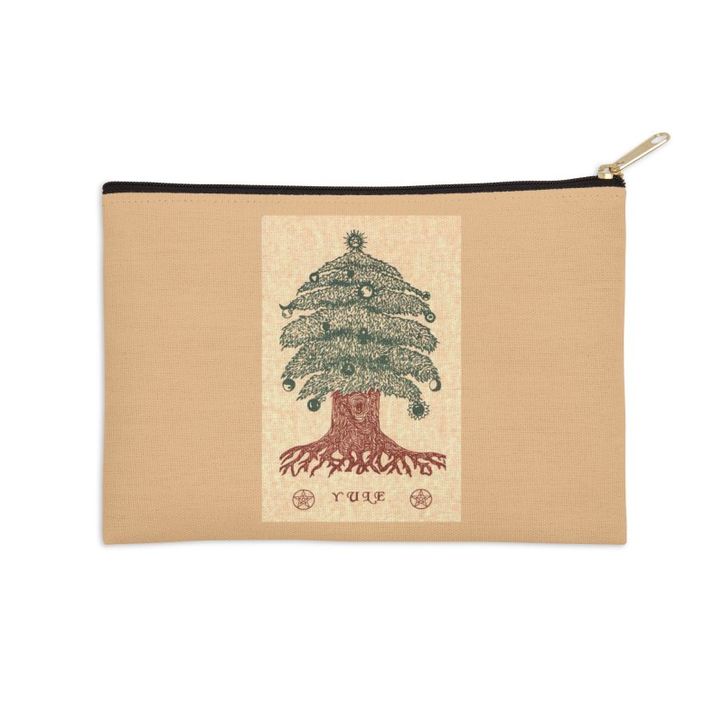Yule Tree Accessories Zip Pouch by The Ways of The Old's Artist Shop