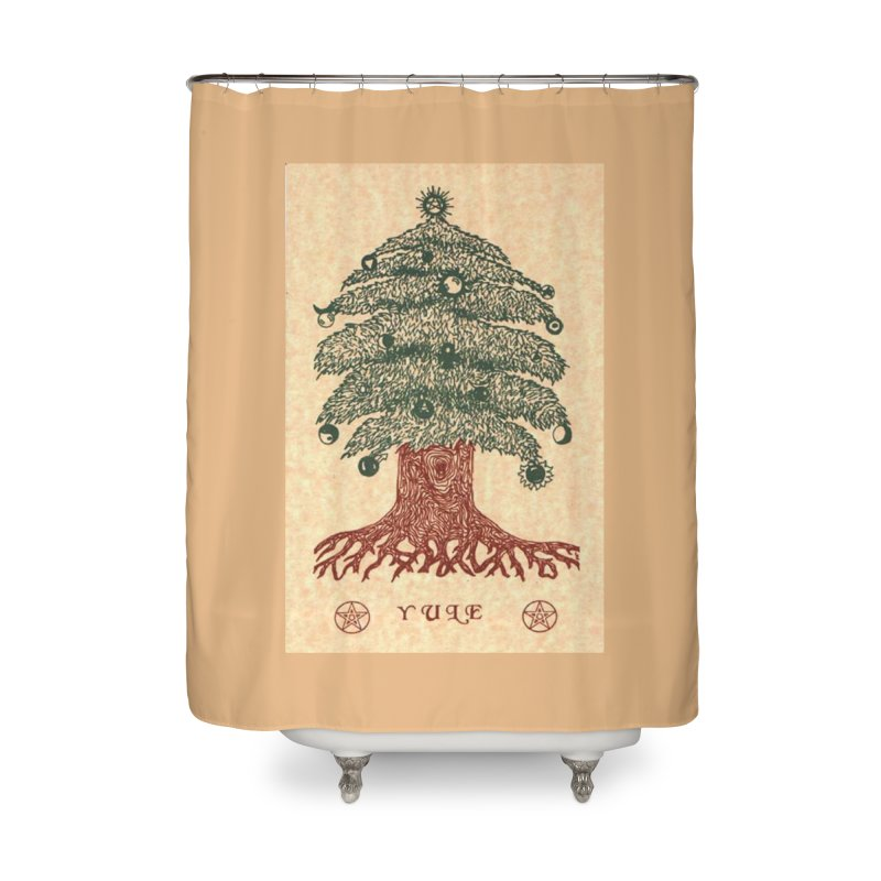 Yule Tree Home Shower Curtain by The Ways of The Old's Artist Shop