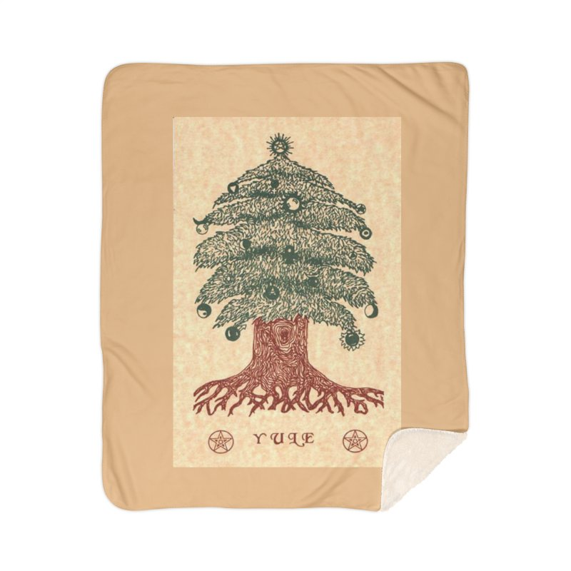 Yule Tree Home Sherpa Blanket Blanket by The Ways of The Old's Artist Shop