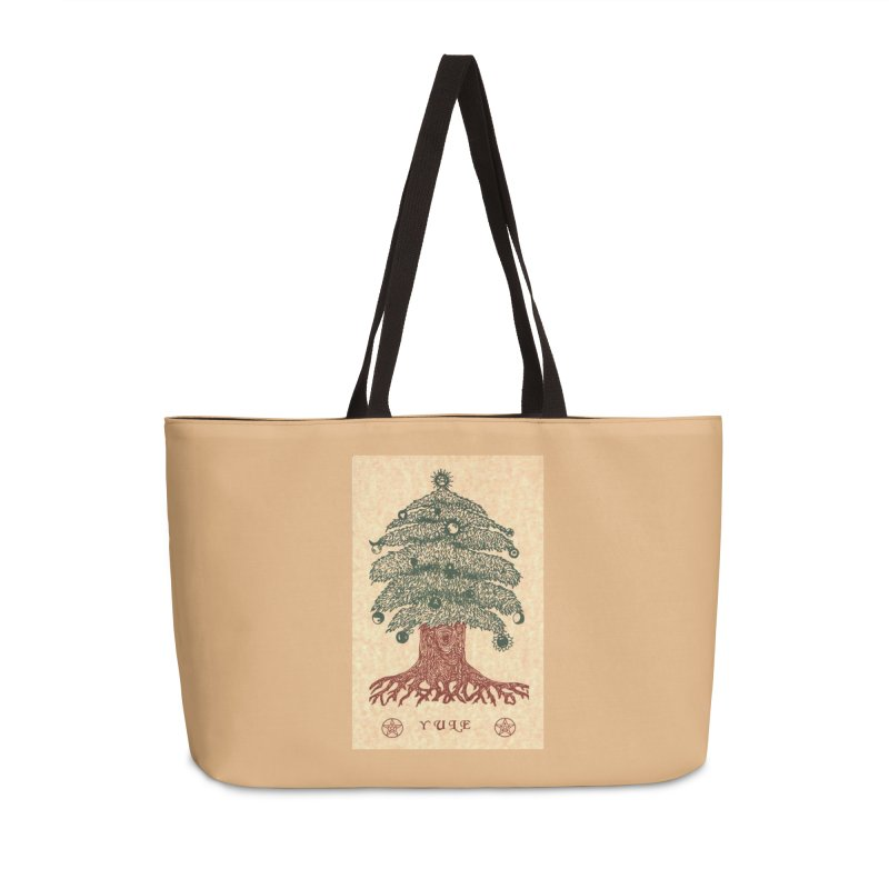 Yule Tree Accessories Weekender Bag Bag by The Ways of The Old's Artist Shop