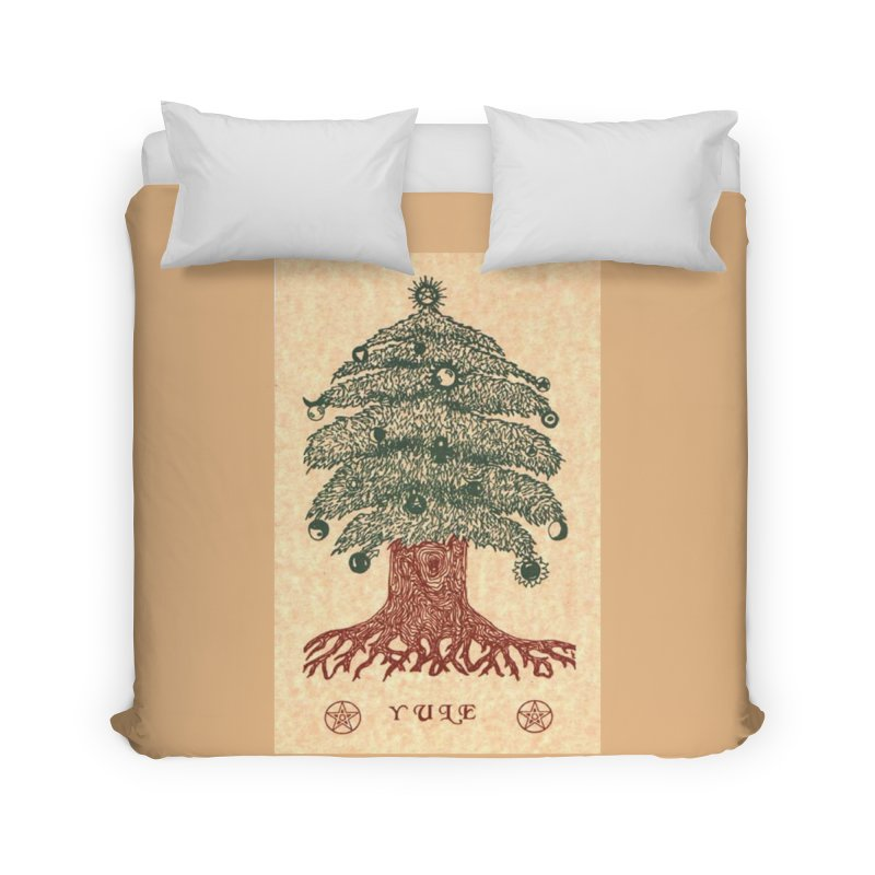 Yule Tree Home Duvet by The Ways of The Old's Artist Shop