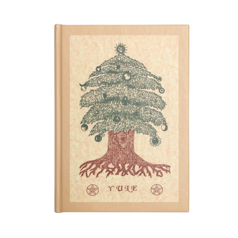 Yule Tree Accessories Lined Journal Notebook by The Ways of The Old's Artist Shop