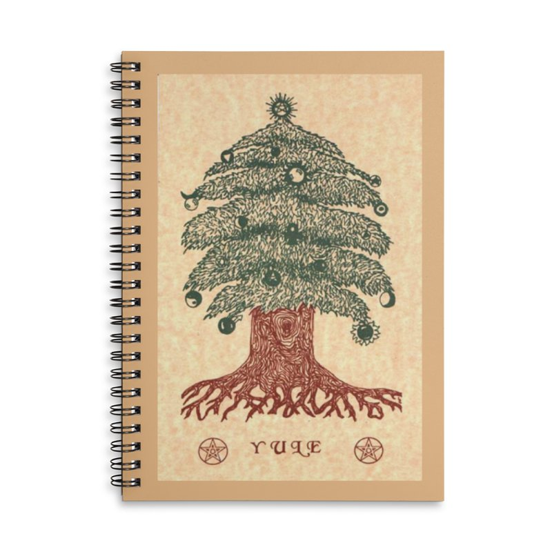 Yule Tree Accessories Lined Spiral Notebook by The Ways of The Old's Artist Shop