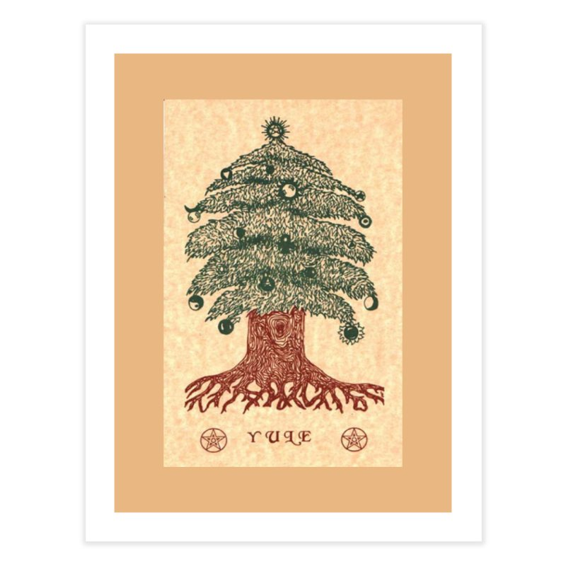 Yule Tree Home Fine Art Print by The Ways of The Old's Artist Shop