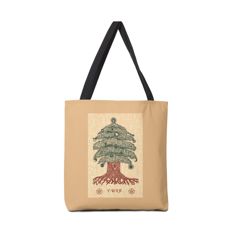 Yule Tree Accessories Tote Bag Bag by The Ways of The Old's Artist Shop