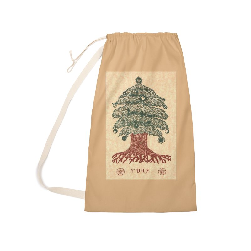 Yule Tree Accessories Laundry Bag Bag by The Ways of The Old's Artist Shop