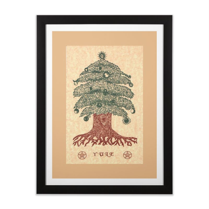 Yule Tree Home Framed Fine Art Print by The Ways of The Old's Artist Shop