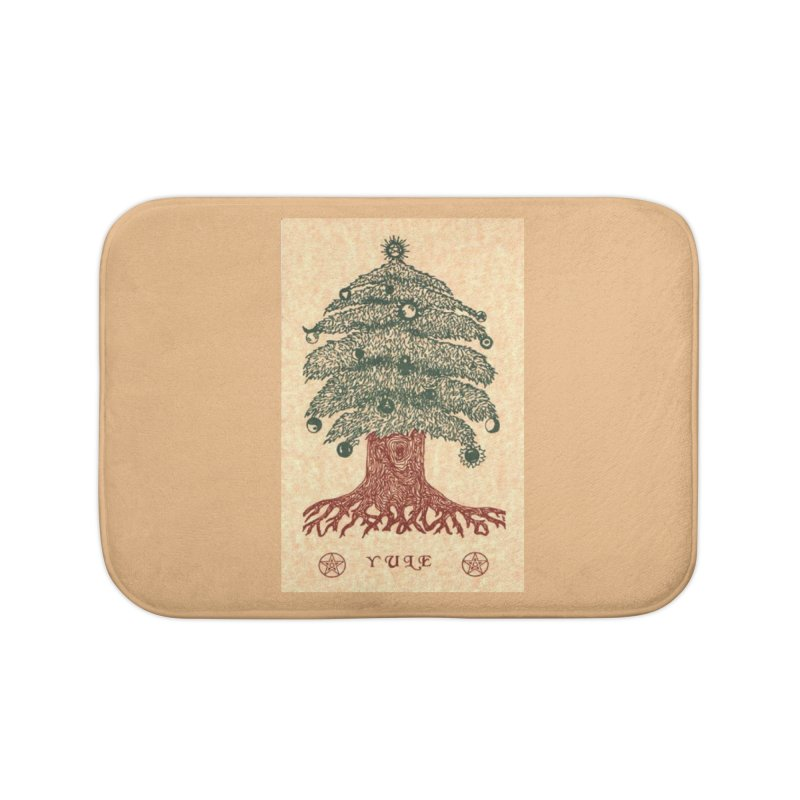Yule Tree Home Bath Mat by The Ways of The Old's Artist Shop