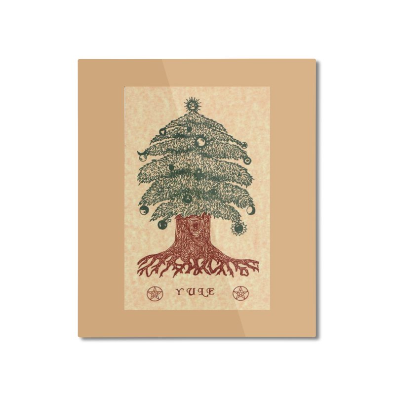 Yule Tree Home Mounted Aluminum Print by The Ways of The Old's Artist Shop