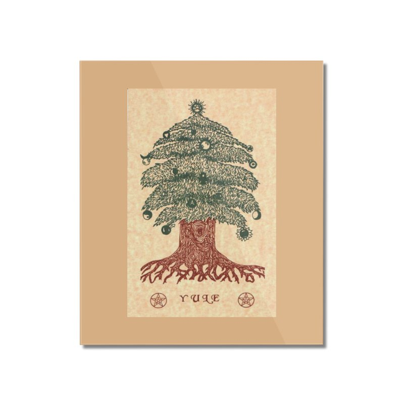 Yule Tree Home Mounted Acrylic Print by The Ways of The Old's Artist Shop