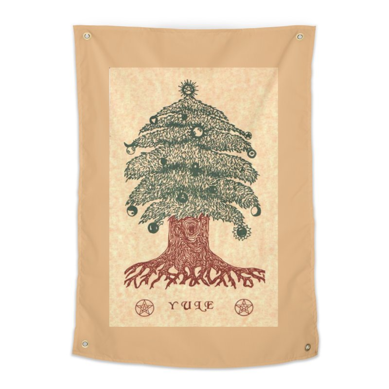 Yule Tree Home Tapestry by The Ways of The Old's Artist Shop