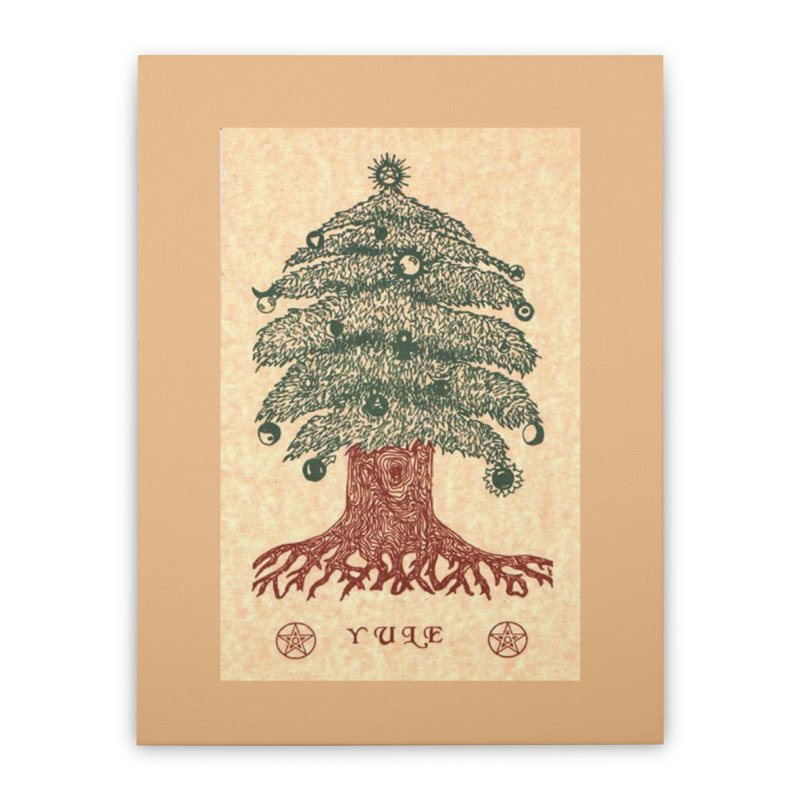 Yule Tree Home Stretched Canvas by The Ways of The Old's Artist Shop