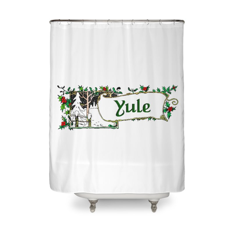 Yule Home Shower Curtain by The Ways of The Old's Artist Shop