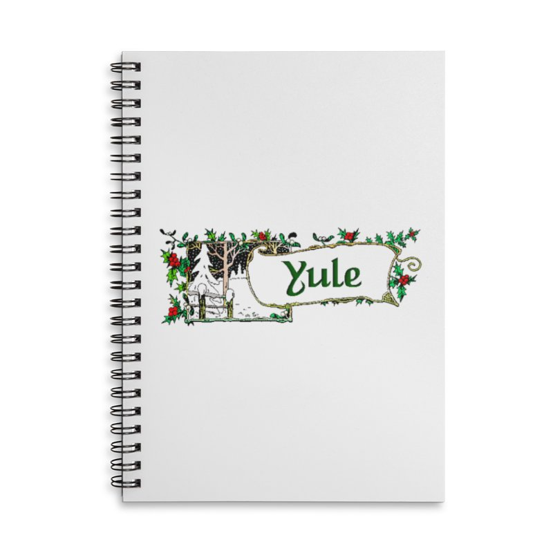 Yule Accessories Lined Spiral Notebook by The Ways of The Old's Artist Shop