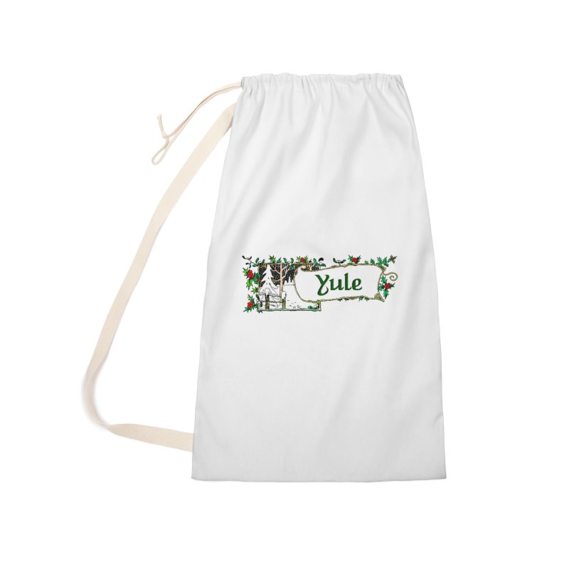 Yule Accessories Laundry Bag Bag by The Ways of The Old's Artist Shop