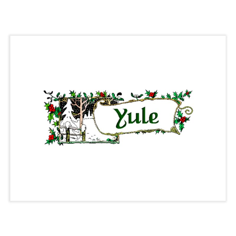 Yule Home Fine Art Print by The Ways of The Old's Artist Shop