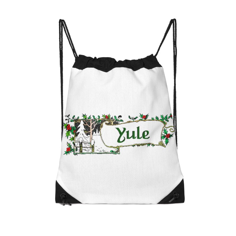 Yule Accessories Drawstring Bag Bag by The Ways of The Old's Artist Shop